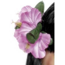 Hawaiian Flower Hair Clip Pink