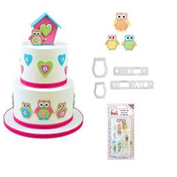 FMM Mummy & Baby Owl Cutters Set