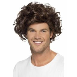Boyband Heartthrob Wig Curly Brown