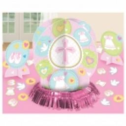 Pink Christening Table Decorations Kit