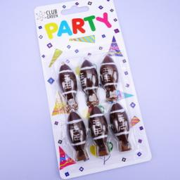 Party Candles Rugby Ball Paket of 6