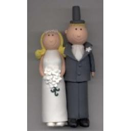 Blonde Haired Claydough Bride & Groom
