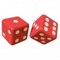 Inflatable Dice 2pcs 12 inch when inflated