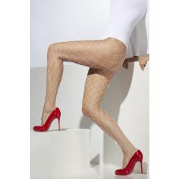 Fever Diamond Net Tights White