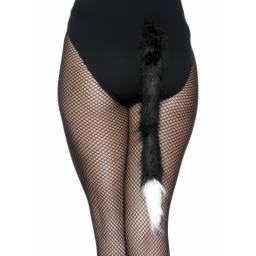 Cat's Tail, Black, Fur, 50cm / 20in
