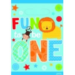 Fun To Be One Plastic Loot Bags 8pcs
