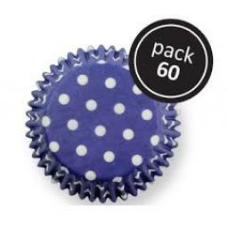 PME Blue Polka Dots Baling Cases 60pcs