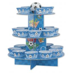 Blue Football Cup Cake Kit - Stand Picks & Cases
