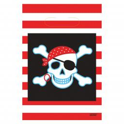 Pirate Party Plastic Party Bags 8ct