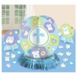 Blue Christening Table Decorations Kit
