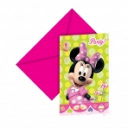 Minnie Mouse Invitations 6+6 Envelopes