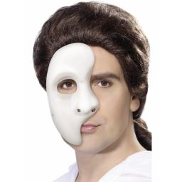 PHANTOM OF THE OPERA MASK 1/2 FACE PLAST