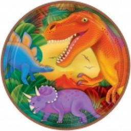 Prehistoric Paper Party plates 8x9 inch