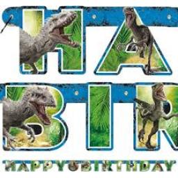 Jurassic World Letter Banner Happy Birtday 1.86 m