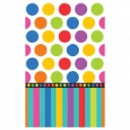 H B Paper tablecover Dotts&Stripes 54x102 inch