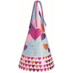 13 inch Balloon Hearts Prismatic Foil Party Hat