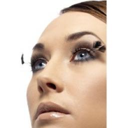 Eyelashes Black Feather with Plumes