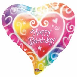 Watercolour Birthday Foil Balloon 18inch