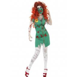 Zombie Scrub Nurse Costume Green