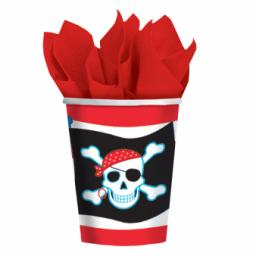 Pirate Party Paper Cups 266ml 8pcs