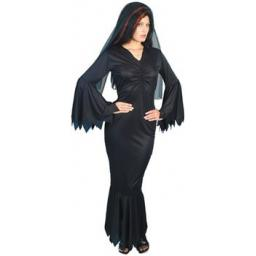 VAMP COSTUME BLACK GOWN WITH VEIL DISPPK