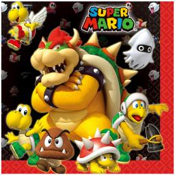 Super Mario Luncheon Napkins 33cm 2ply 16ct
