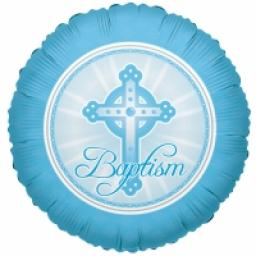 Baptism Light Blue Balloon 18in Foil Balloon