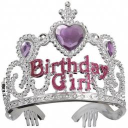 Silver Birthday Girl Gem Tiara