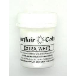 Sugarflair Extra White Colours 50g