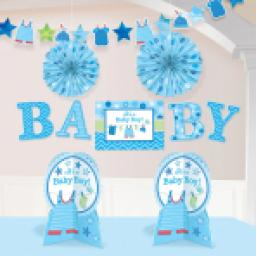 Welcome Baby Boy Baby Shower Room Decoration Kit
