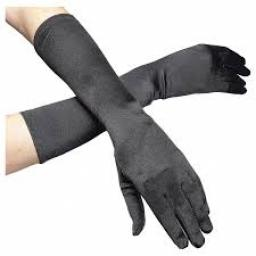 Elbow Gloves Monte Carlo Satin Black
