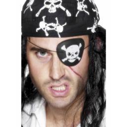 Pirate Eyepatch Skull & Cross Bones