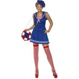 Sailor Cutie Dress Beret & Stockings Small