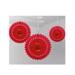 Decorative Fan 16 inch Red 1pc