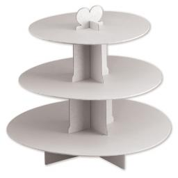 Three Tier Card Stand White