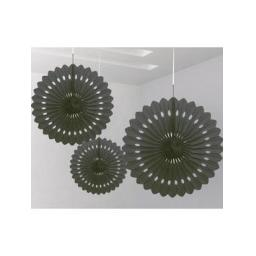 Decorative Fan 16 inch Black 1pc