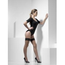 Fever Diamond Net Hold-Ups Black
