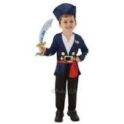 Captain Jake Costume(Top Trousers hat & Cutlass)