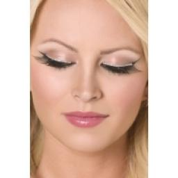 Eyelashes Black With Silver Glitter