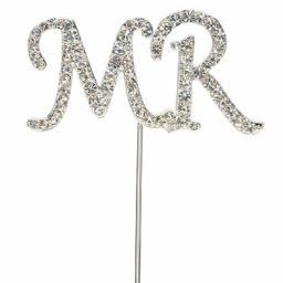 Diamante MR Sign Cake Topper Decoration