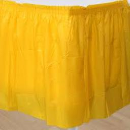 Plastic Sunflower Yellow Table Skirt 73cm x 426cm