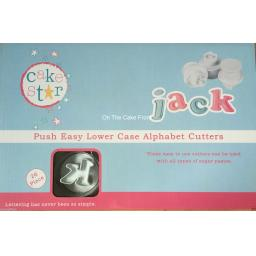 Push Easy Lower-Case Alphabet Cutters