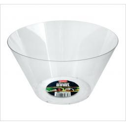 Clear Plastic Salad Bowl 25cm