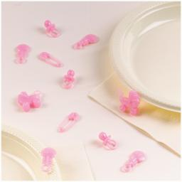 Baby Girl Baby Shower Table Sprinkles Pink 25pcs