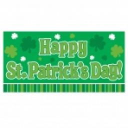 Happy St Patricks Day Banner Plastic Over 5 Feet L
