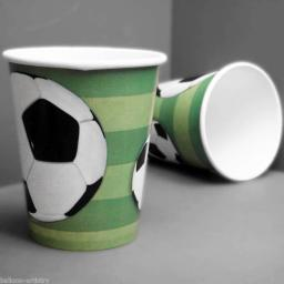 Football Party Paper Party Cups 8pcs 270ml