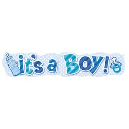 Itís a Boy Baby Shower Giant Banner 4.47ft