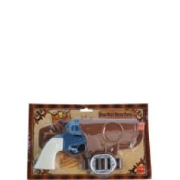 Western Water Pistol Single Gun with Holster & Bel