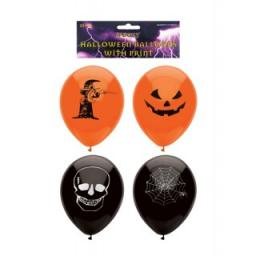 Latex Halloween Printed Balloons 23cm 15pcs