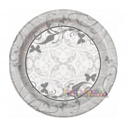Wedding and Bridal Small Paper Plates 8pcs 17.1cm